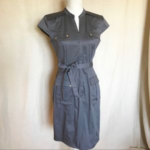 H&M Grey Shirtwaist Dress